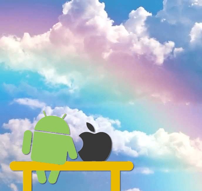 Android and Apple together in harmony
