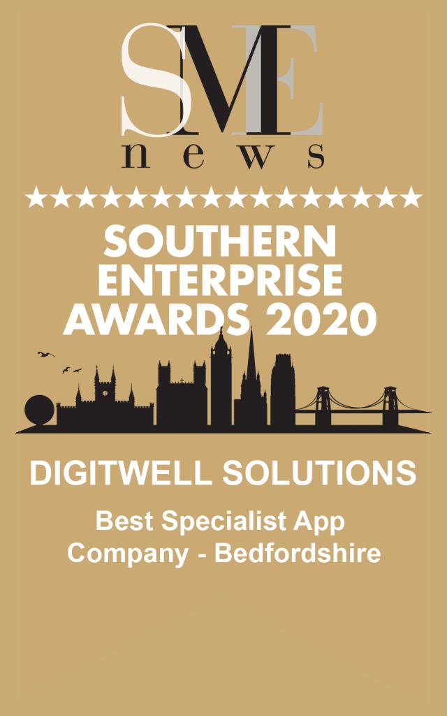 Award certificate - Best Specialist Mobile App Company